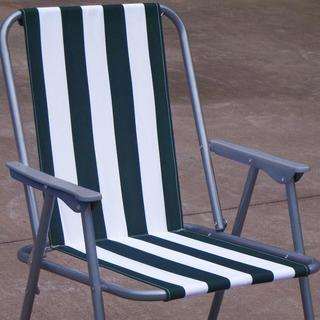 Krzesło na plażę w paski