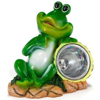 Dekoracja ogrodowa na energię słoneczną - żaba