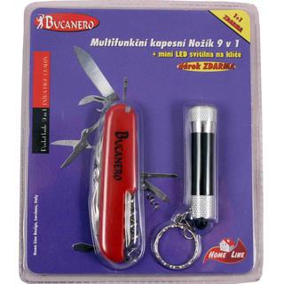 Nożyk multifunkcyjny 9 w 1 + LED latarka gratis