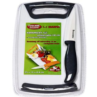 Uniwersalny nóż ceramiczny TOSCANA 10 cm +deseczka gratis