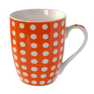 Kubek ceramiczny Banák 400 ml pomarańczowy w kropki, BANQUET