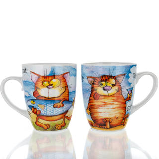Kubek ceramiczny 310 ml kot Funny, BANQUET