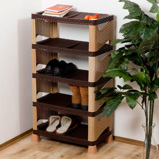 Półka na buty z tworzywa sztucznego 5 poziomów