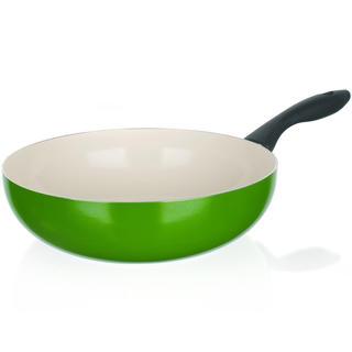 Patelnia ceramiczna WOK 24 cm Natura Ceramia Verde, BANQUET