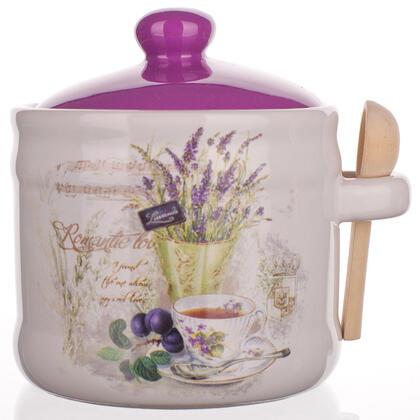 Pojemnik ceramiczny z łyżką Lavender, BANQUET