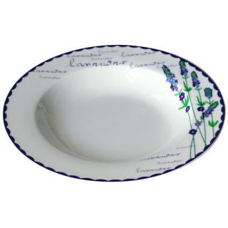 Ceramiczny talerz głęboki Lawenda 21,5 cm