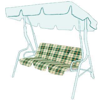 Zapasowa poduszka na huśtawkę ogrodową w kratkę