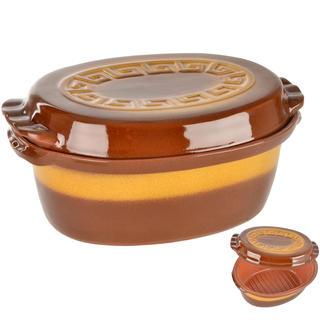 Obustronna brytfanna ceramiczna z wieczkiem 4,5 l