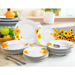 Banquet Porcelanowy zestaw talerzy obiadowych SUNNY 18 szt.