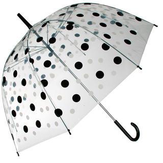 Parasol damski przezroczysty z kropeczkami