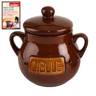 Pojemnik do przechowywania żywności ceramiczny CEBULA