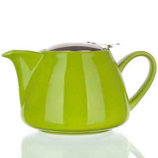 Dzbanek ceramiczny z pokrywą ze stali nierdzewnej i sitkiem Bonnet zielony, BANQUET