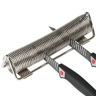 Pojemnik na noże chromowany – sprężyna