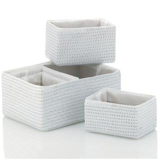 Koszyki dekoracyjne RIMOSSA białe