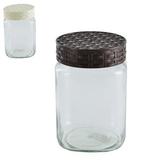 Pojemnik szklany z pokrywą RATAN graniasty