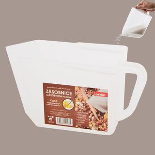 Plastikowy pojemnik na żywność mleczny
