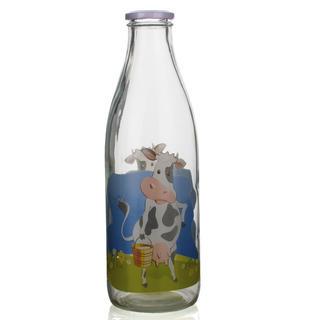 Szklana butelka do mleka 1l D6, BANQUET