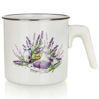 Garnek do gotowania mleka emaliowany Lavender 1,2 l, BANQUET