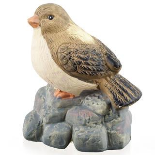 Dekoracja ogrodowa - ptaszek na kamieniu