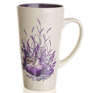 Kubek ceramiczny wysoki 450 ml Lavender, BANQUET