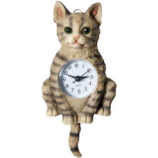 Zegar ścienny ceramiczny Kot