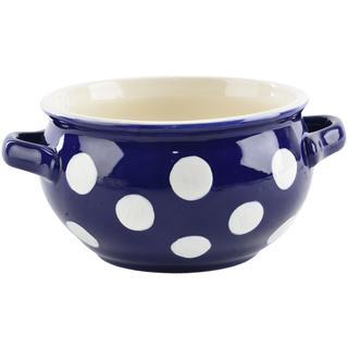 Misa ceramiczna z uszkami KRAJACZ 700 ml niebieska
