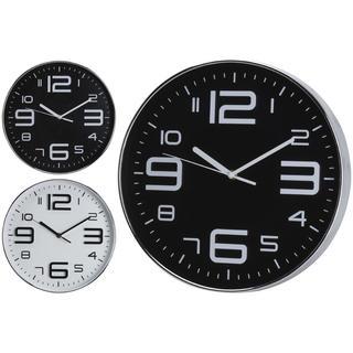 Zegar ścienny ze srebrnymi cyframi