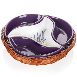 Misa serwująca ceramiczna czteroczęściowa LAVENDER, BANQUET