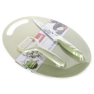 Zestaw noża, obieraczki i deski Olives, BANQUET