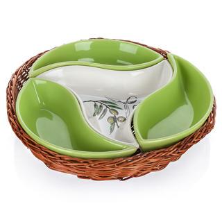 Ceramiczna misa serwująca 4części Olives, BANQUET