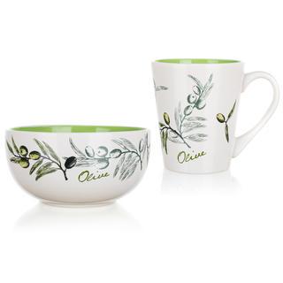 Ceramiczny zestaw śniadaniowy Olives, BANQUET