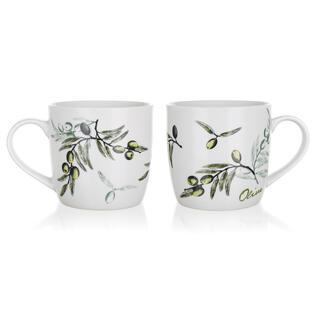 Kubki ceramiczne Olives 2 sztuki, BANQUET