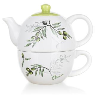 Dzbanek ceramiczny z filiżanką Olives, BANQUET