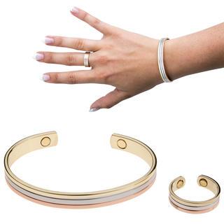 Bransoletka magnetyczna z pierścionkiem