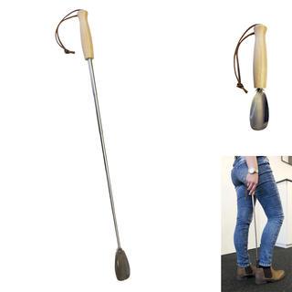 Łyżka do butów z drewnianą rączką