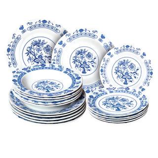 Banquet Porcelanowy zestaw talerzy ONION 18 szt.