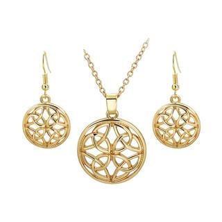 Naszyjnik oraz kolczyki z wisiorkiem Ornament