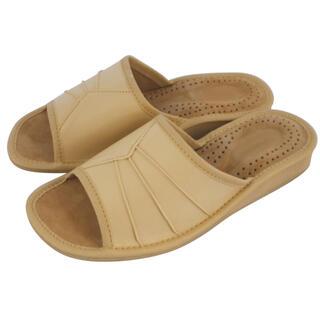 Pantofle domowe damskie beżowe