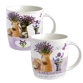 Kubki ceramiczne Lawenda 2 szt.