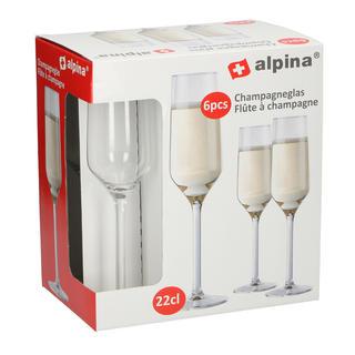 Kieliszki do szampana ALPINA 6 sztuk