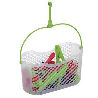 Koszyk plastikowy FUN + 30 sztuk spinaczy do bielizny NOVA
