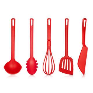 Przybory kuchenne Culinaria, BANQUET 5 sztuk czerwone