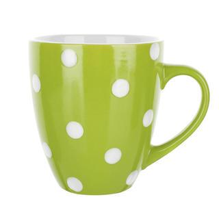 Kubek ceramiczny Banák zielony w kropki 400 ml, BANQUET