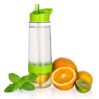 Sportowa butelka SQUEEZY z wyciskarką do cytrusów, BANQUET zielona