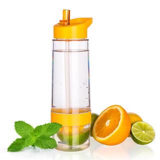 Sportowa butelka SQUEEZY z wyciskarką do cytrusów, BANQUET pomarańczowa