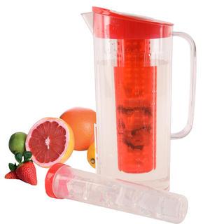 Plastikowy dzbanek z wkładem na owoce i lód