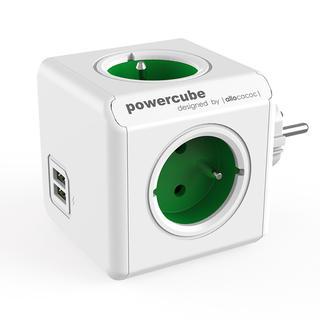 Rozgałęźnik PowerCube Original USB zielony