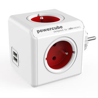 Rozgałęźnik PowerCube Original USB czerwony