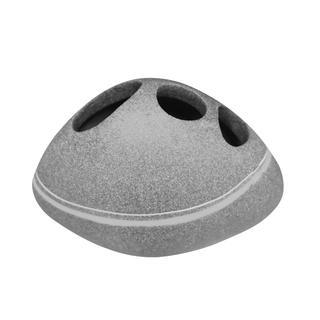 Kubek na szczoteczki Stone szary