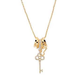 Naszyjnik z zawieszką w kształcie klucza złoty